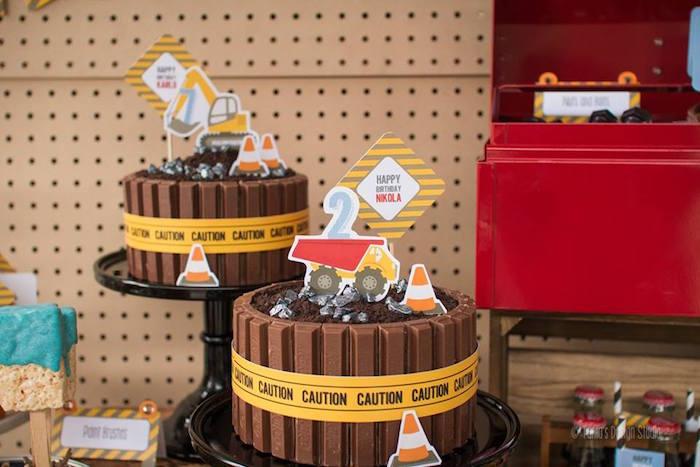 Cakes from a Construction Birthday Party via Kara's Party Ideas! KarasPartyIdeas.com (43)