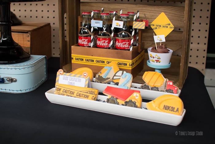 Sweet Table Details from a Construction Birthday Party via Kara's Party Ideas! KarasPartyIdeas.com (16)