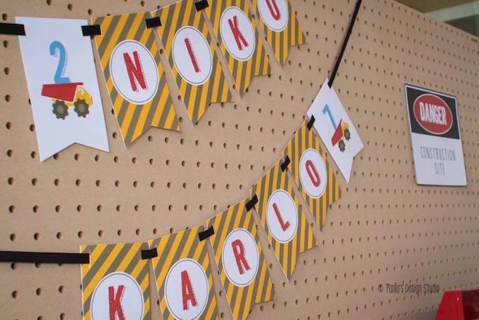 Banner from a Construction Birthday Party via Kara's Party Ideas! KarasPartyIdeas.com (8)