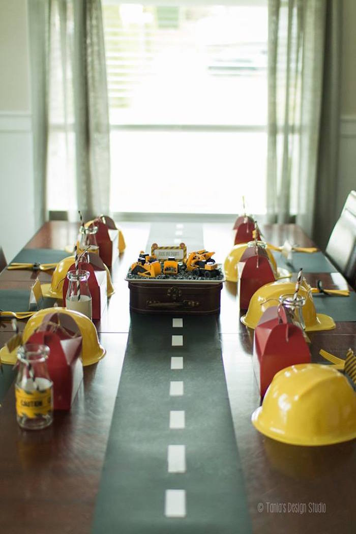 Dining Tablescape from a Construction Birthday Party via Kara's Party Ideas! KarasPartyIdeas.com (41)