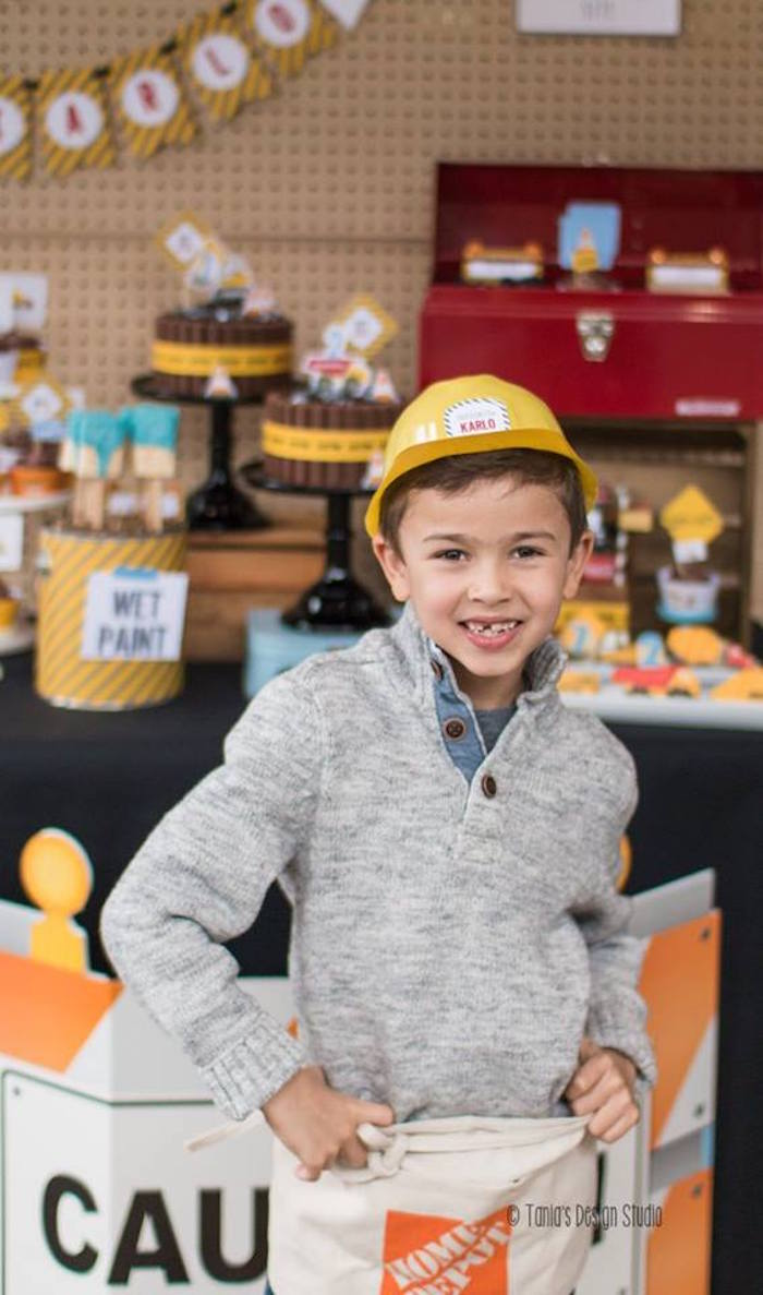 Construction Worker + Birthday Boy from a Construction Birthday Party via Kara's Party Ideas! KarasPartyIdeas.com (39)