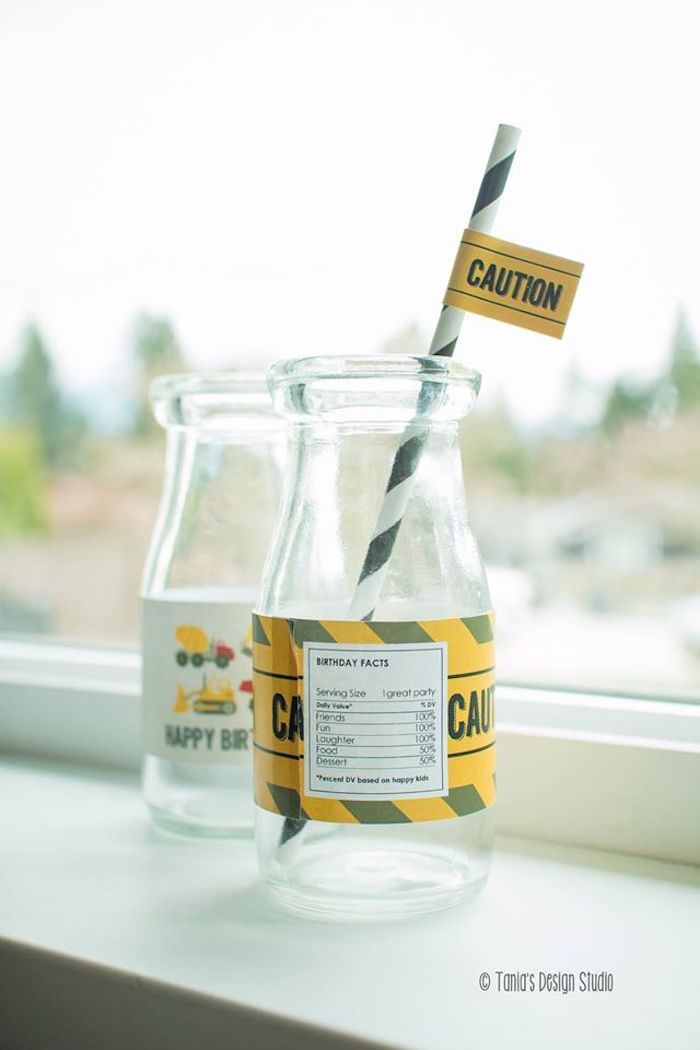 Drink Bottles from a Construction Birthday Party via Kara's Party Ideas! KarasPartyIdeas.com (37)