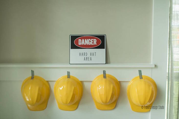 Hard Hats from a Construction Birthday Party via Kara's Party Ideas! KarasPartyIdeas.com (36)