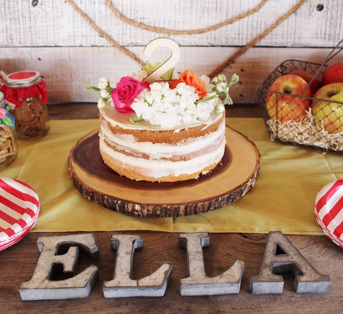 Cake + Galvanized Letters from a County Fair Themed Birthday Party via Kara's Party Ideas | The Place for All Things Party! KarasPartyIdeas.com (19)