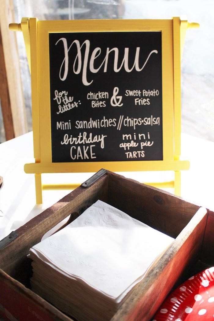 Menu Board From A County Fair Themed Birthday Party Via Karas Ideas