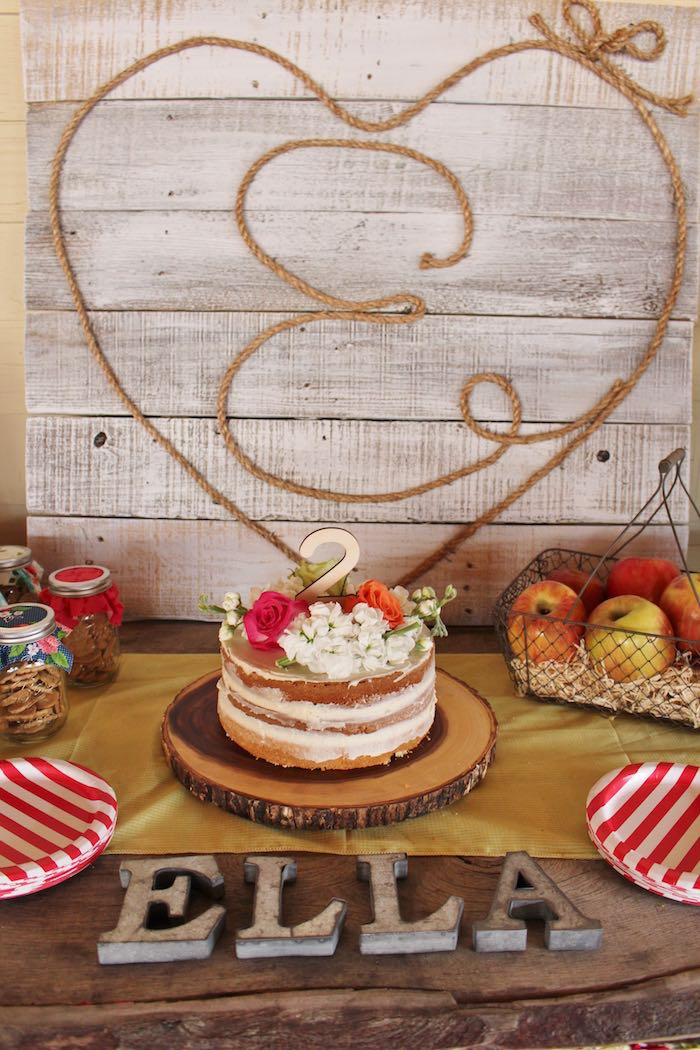 Wooden Pallet Backdrop + Cake from a County Fair Themed Birthday Party via Kara's Party Ideas | The Place for All Things Party! KarasPartyIdeas.com (33)