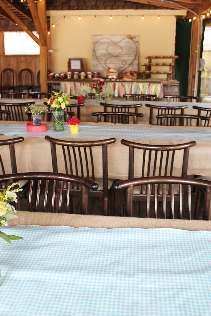 Tables + Partyscape from a County Fair Themed Birthday Party via Kara's Party Ideas | The Place for All Things Party! KarasPartyIdeas.com (13)