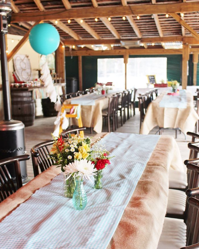 Guest Tabletop from a County Fair Themed Birthday Party via Kara's Party Ideas | The Place for All Things Party! KarasPartyIdeas.com (9)