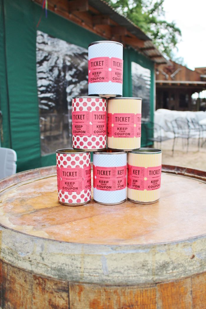 Toss the Can Game + Decor from a County Fair Themed Birthday Party via Kara's Party Ideas | The Place for All Things Party! KarasPartyIdeas.com (7)