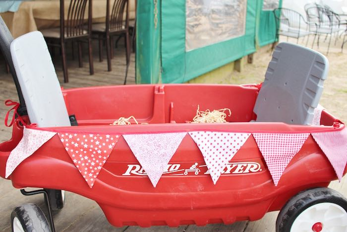 Wagon from a County Fair Themed Birthday Party via Kara's Party Ideas | The Place for All Things Party! KarasPartyIdeas.com (6)