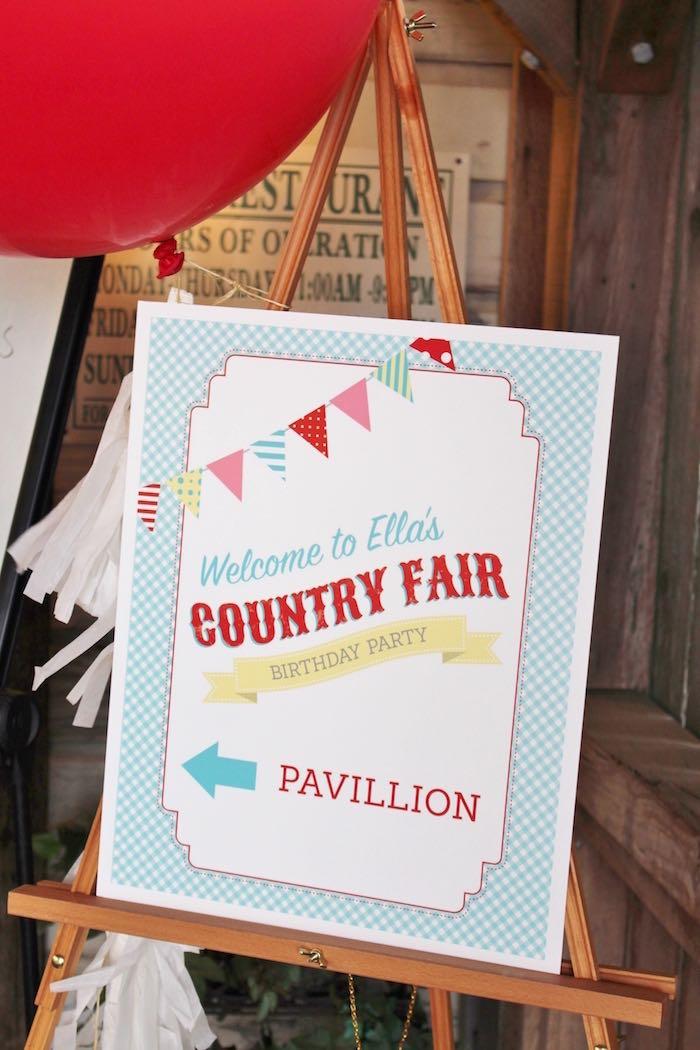 Kara S Party Ideas County Fair Themed Birthday Party