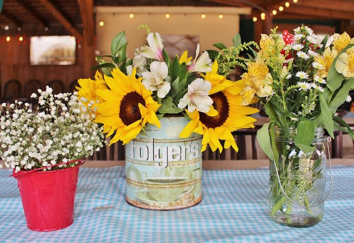 Centerpieces from a County Fair Themed Birthday Party via Kara's Party Ideas | The Place for All Things Party! KarasPartyIdeas.com (30)