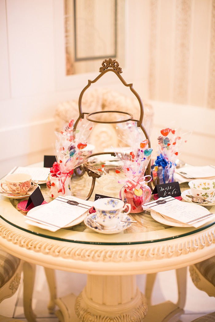 Guest Table from an Elegant Chanel Inspired Birthday Party via Kara's Party Ideas KarasPartyIdeas.com (24)