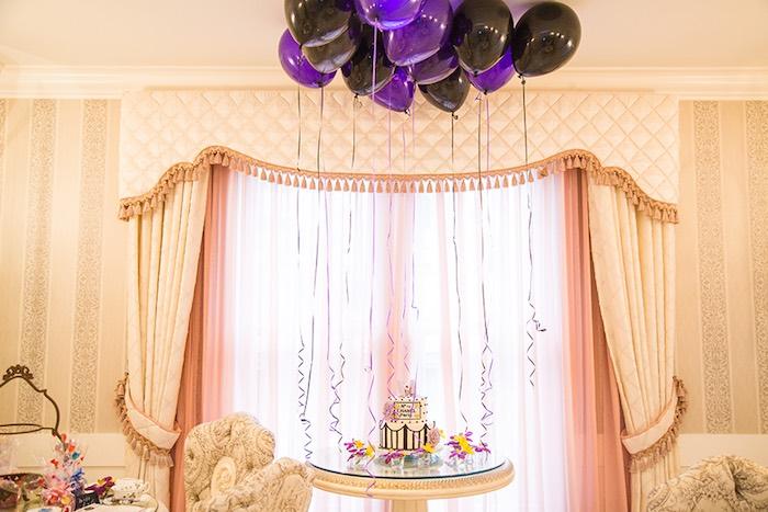 Cake Table Display from an Elegant Chanel Inspired Birthday Party via Kara's Party Ideas KarasPartyIdeas.com (17)