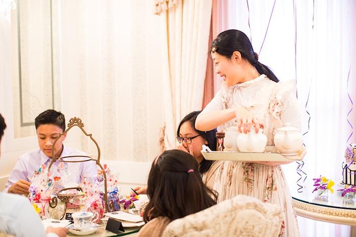 High Tea Time from an Elegant Chanel Inspired Birthday Party via Kara's Party Ideas KarasPartyIdeas.com (15)