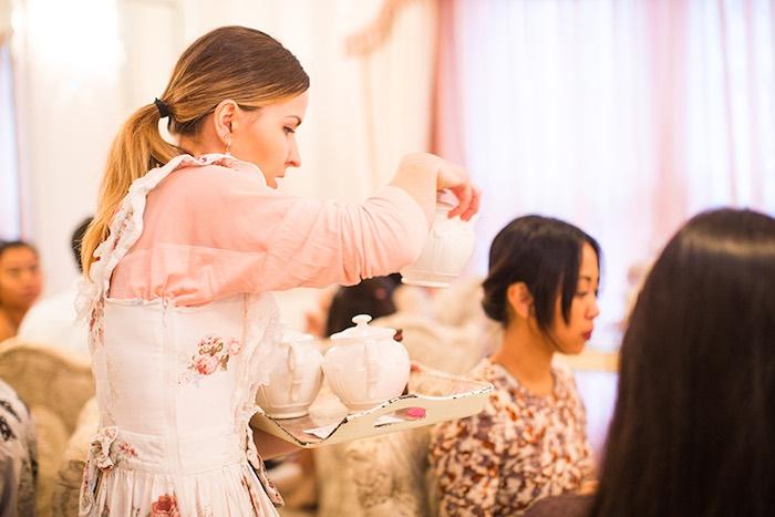 High Tea Time from an Elegant Chanel Inspired Birthday Party via Kara's Party Ideas KarasPartyIdeas.com (10)
