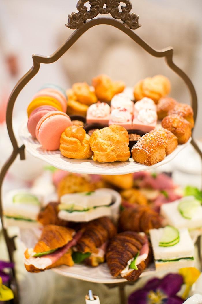 Sweet + Food Tray from an Elegant Chanel Inspired Birthday Party via Kara's Party Ideas KarasPartyIdeas.com (9)