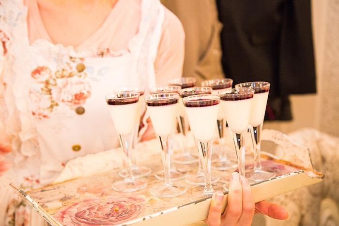 Dessert Cups from an Elegant Chanel Inspired Birthday Party via Kara's Party Ideas KarasPartyIdeas.com (5)