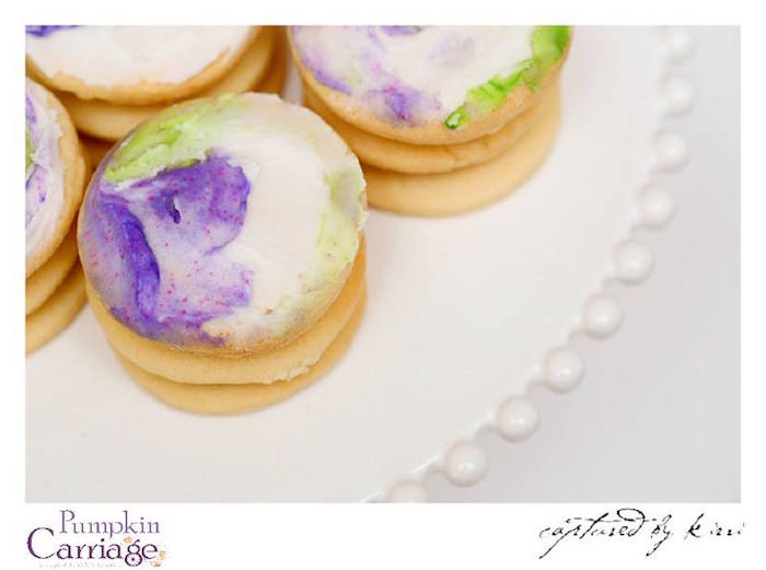 Cookie Stacks from an Elegant Floral Baby Shower via Kara's Party Ideas KarasPartyIdeas.com (29)