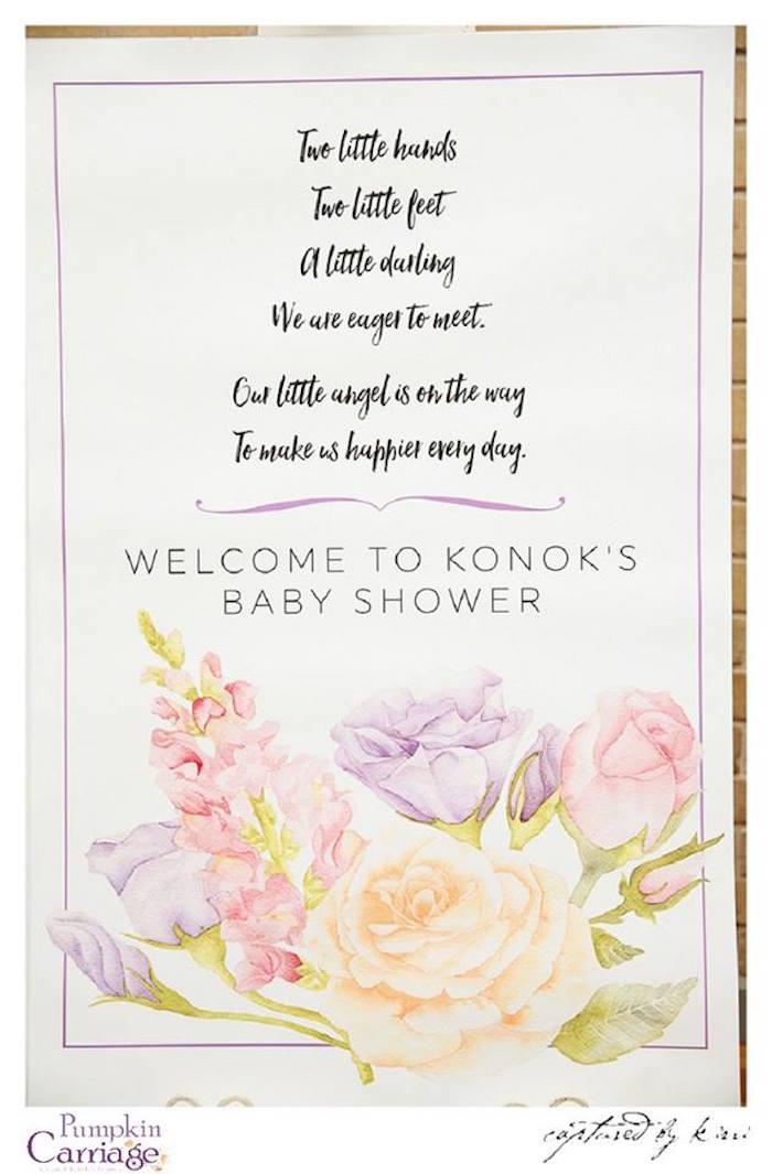 Stationery from an Elegant Floral Baby Shower via Kara's Party Ideas KarasPartyIdeas.com (25)