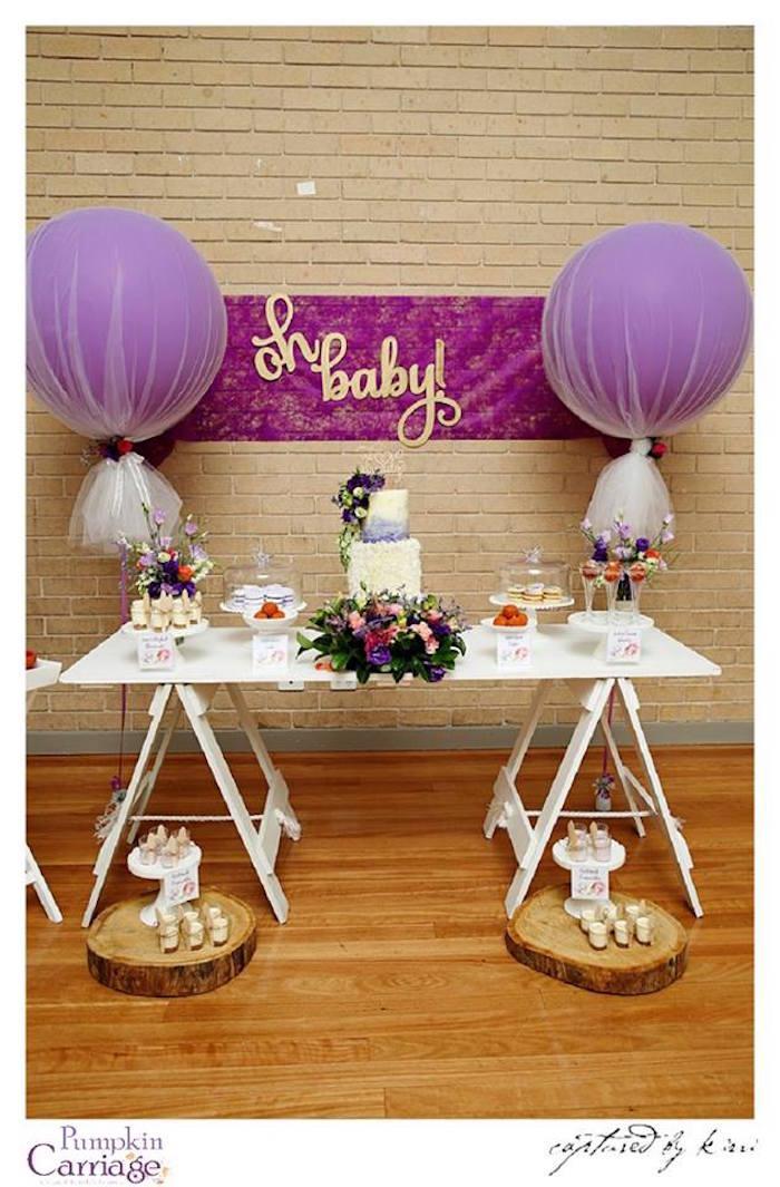Dessert Table from an Elegant Floral Baby Shower via Kara's Party Ideas KarasPartyIdeas.com (21)
