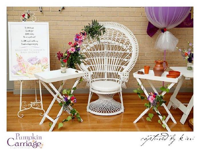 Details from an Elegant Floral Baby Shower via Kara's Party Ideas | KarasPartyIdeas.com