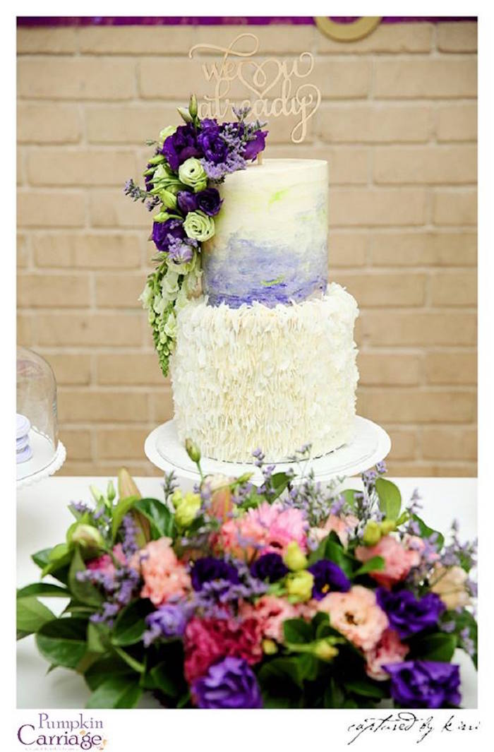 Cake from an Elegant Floral Baby Shower via Kara's Party Ideas KarasPartyIdeas.com (17)