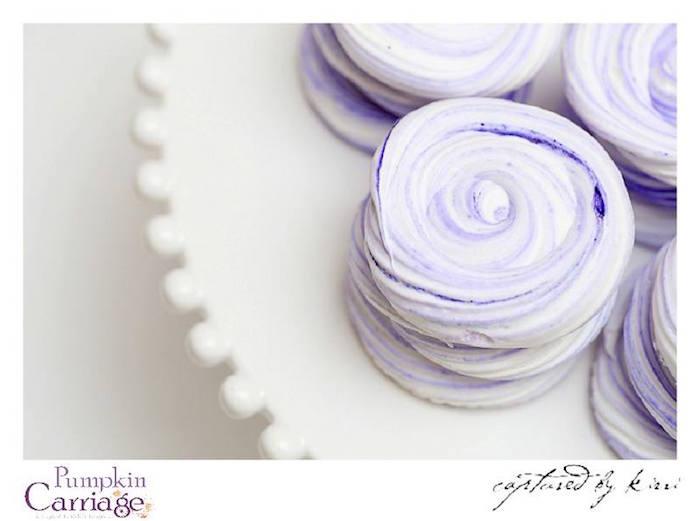 Meringue Cookies from an Elegant Floral Baby Shower via Kara's Party Ideas KarasPartyIdeas.com (9)