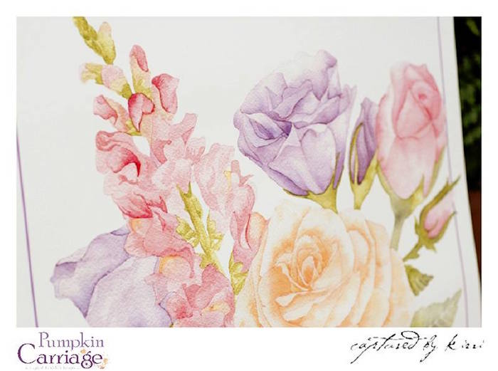Floral Watercolor Stationery from an Elegant Floral Baby Shower via Kara's Party Ideas KarasPartyIdeas.com (3)