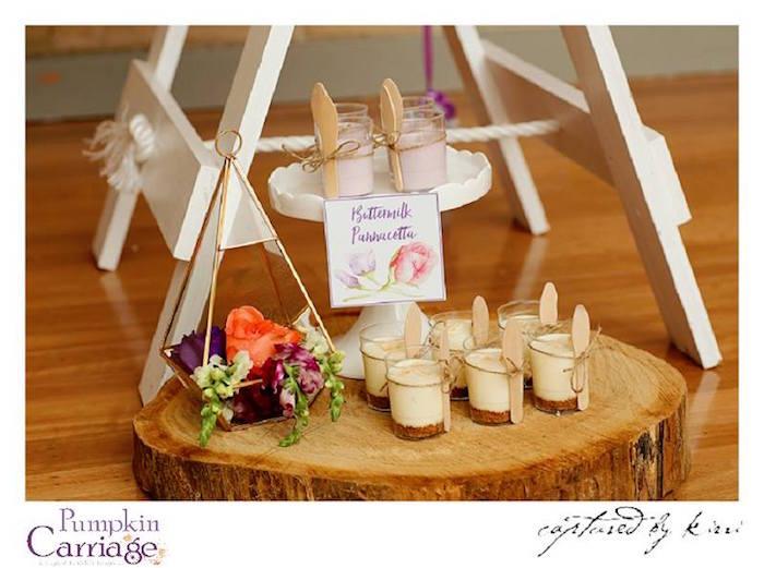 Dessert Cups from an Elegant Floral Baby Shower via Kara's Party Ideas KarasPartyIdeas.com (31)