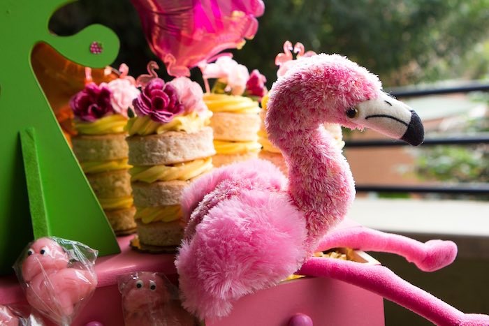 Mini Cakes from a Flamingo Garden Party via Kara's Party Ideas - KarasPartyIdeas.com (5)