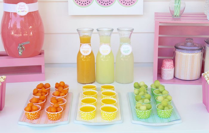 Fruit Cups + Drink Jars from a Fruity Lemonade Stand Birthday Party via Kara's Party Ideas | KarasPartyIdeas.com (53)