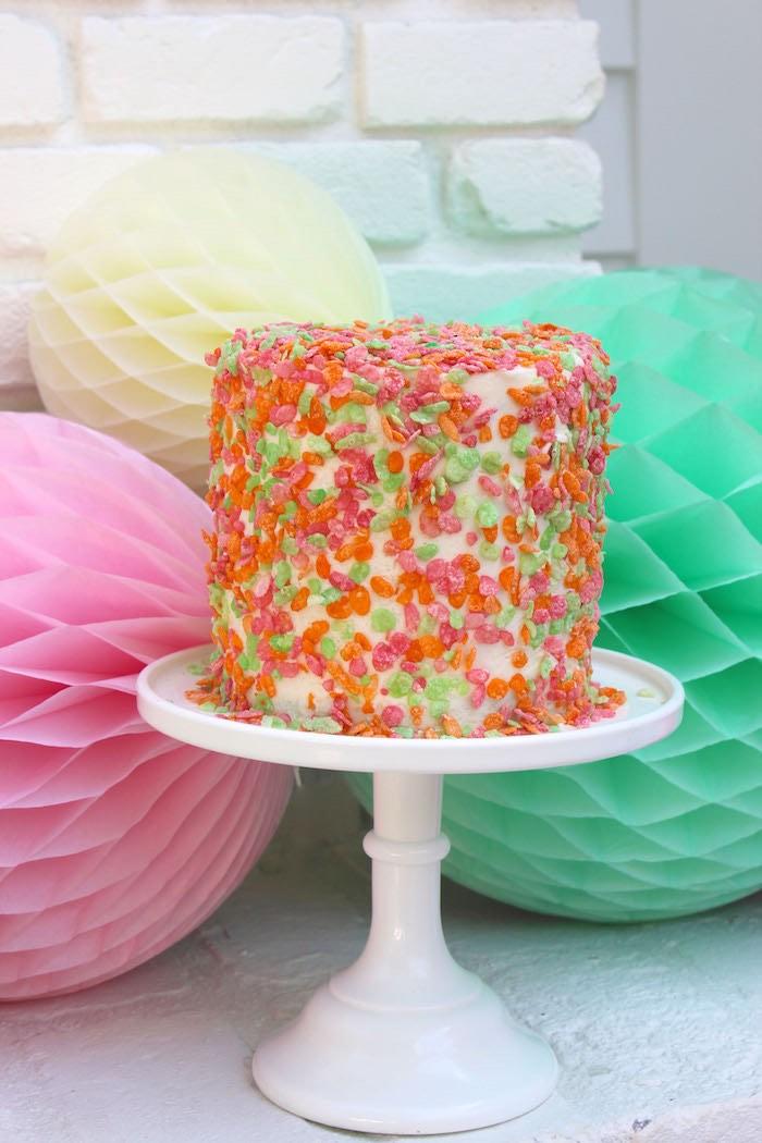 Smash Cake from a Fruity Lemonade Stand Birthday Party via Kara's Party Ideas | KarasPartyIdeas.com (49)