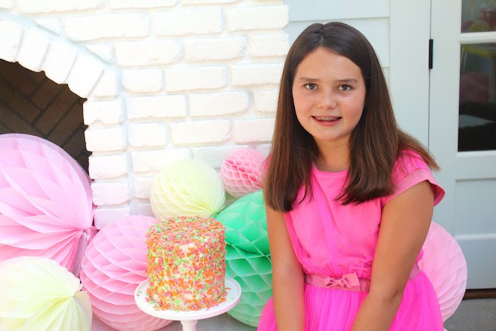 Birthday Girl from a Fruity Lemonade Stand Birthday Party via Kara's Party Ideas | KarasPartyIdeas.com (48)