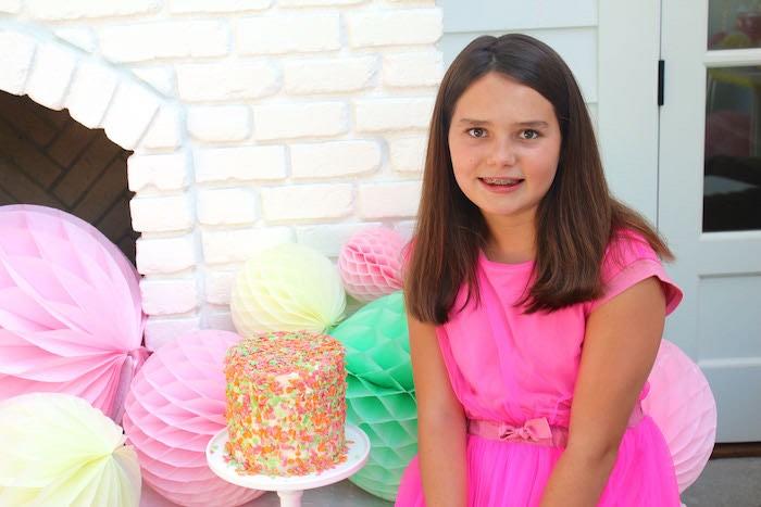 Birthday Girl from a Fruity Lemonade Stand Birthday Party via Kara's Party Ideas | KarasPartyIdeas.com (48)