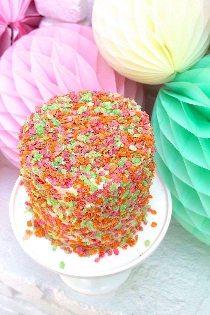 Smash Cake from a Fruity Lemonade Stand Birthday Party via Kara's Party Ideas | KarasPartyIdeas.com (46)