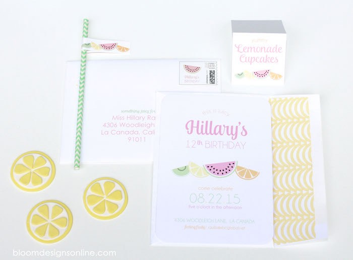 Invitation + Details from a Fruity Lemonade Stand Birthday Party via Kara's Party Ideas | KarasPartyIdeas.com (63)