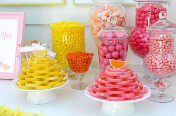 Candy Buffet Treats from a Fruity Lemonade Stand Birthday Party via Kara's Party Ideas | KarasPartyIdeas.com (42)