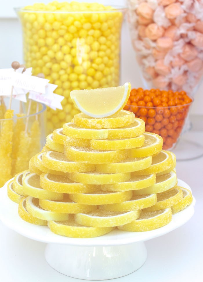 Lemon Slice Treats from a Fruity Lemonade Stand Birthday Party via Kara's Party Ideas | KarasPartyIdeas.com (40)