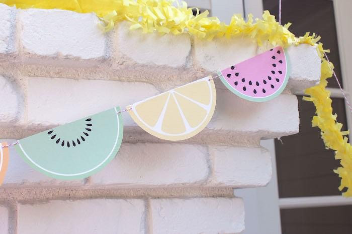 Fruit Slice Banner + Garland from a Fruity Lemonade Stand Birthday Party via Kara's Party Ideas | KarasPartyIdeas.com (36)