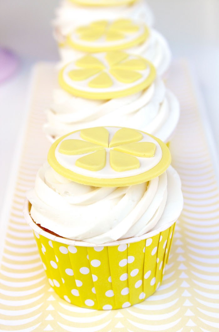 Lemonade Cupcakes from a Fruity Lemonade Stand Birthday Party via Kara's Party Ideas | KarasPartyIdeas.com (31)