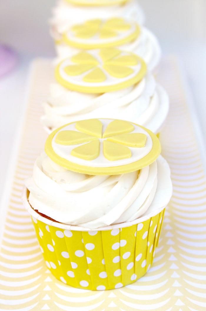 Lemonade Cupcakes from a Fruity Lemonade Stand Birthday Party via Kara's Party Ideas | KarasPartyIdeas.com (31)
