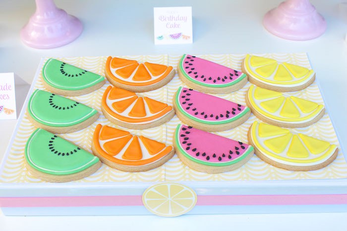 Cookies from a Fruity Lemonade Stand Birthday Party via Kara's Party Ideas | KarasPartyIdeas.com (30)