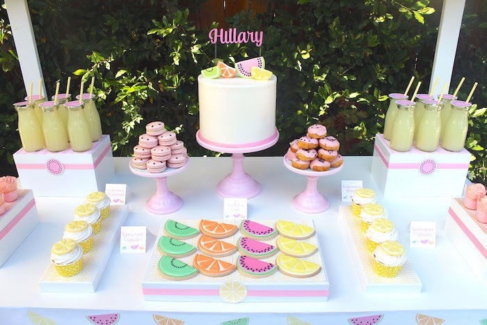 Sweet Table Detail from a Fruity Lemonade Stand Birthday Party via Kara's Party Ideas | KarasPartyIdeas.com (27)
