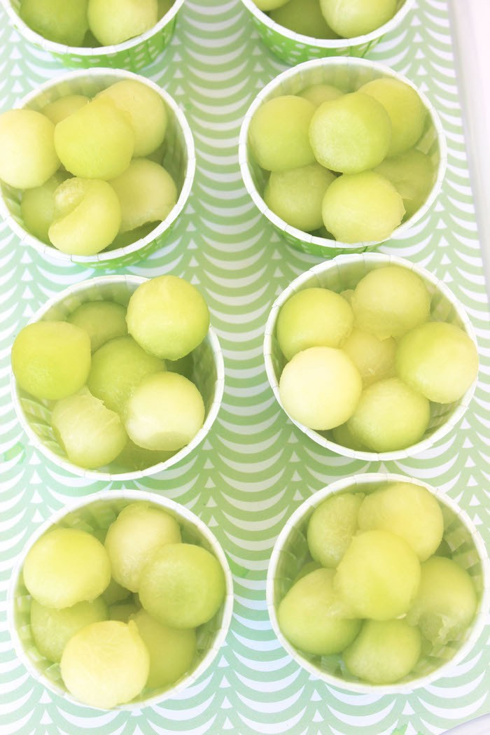 Fruit Ball Cups from a Fruity Lemonade Stand Birthday Party via Kara's Party Ideas | KarasPartyIdeas.com (24)