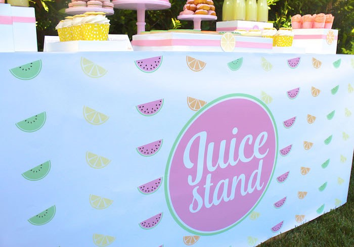 Sweet Stand Banner + Front from a Fruity Lemonade Stand Birthday Party via Kara's Party Ideas | KarasPartyIdeas.com (19)
