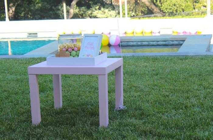 Activity Table + Station from a Fruity Lemonade Stand Birthday Party via Kara's Party Ideas | KarasPartyIdeas.com (15)