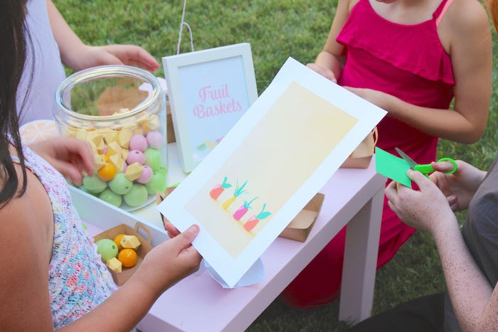 Fruit Basket + Activity from a Fruity Lemonade Stand Birthday Party via Kara's Party Ideas | KarasPartyIdeas.com (12)