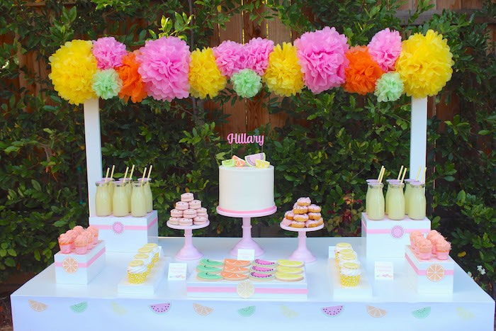 Sweet Table Details from a Fruity Lemonade Stand Birthday Party via Kara's Party Ideas | KarasPartyIdeas.com (10)