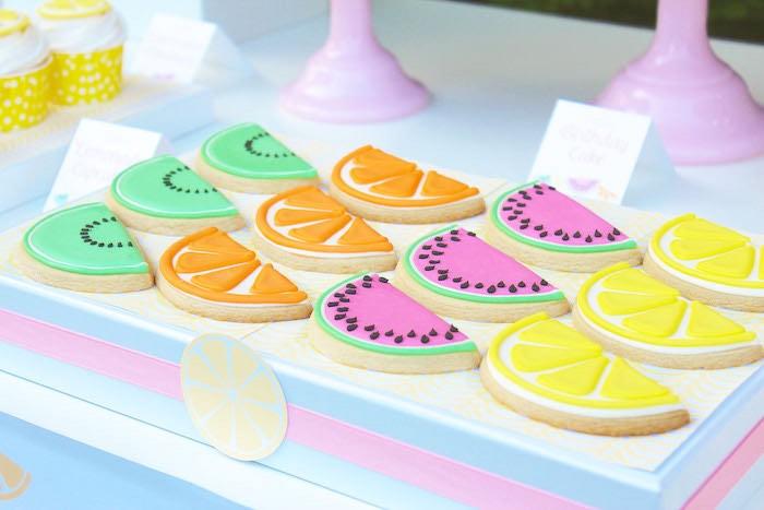 Cookies from a Fruity Lemonade Stand Birthday Party via Kara's Party Ideas | KarasPartyIdeas.com (9)